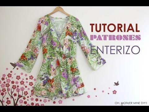 DIY Tutorial y patrones: Mono / Enterizo estampado - YouTube