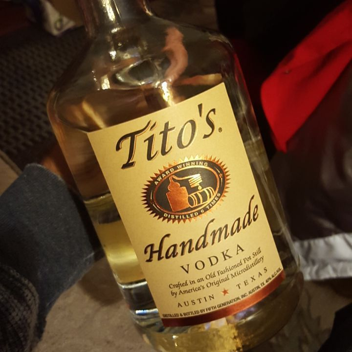 Shout out to  @sino313 for this gallon of fucking TITO'S BIIIITCHES!!!! appreciate ya boy   #six8drinks #tito #vodka #distillery #holiday #christmas #drinks  #alcohol  #cocktail #mixologist #mixology by six8bartends
