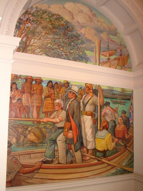 COURAGE The meeting of Vancouver and Quadra at Nootka Sound in 1792.