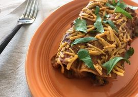 Butternut Squash Enchiladas With Spicy Peanut Sauce | Oregonian Recipes