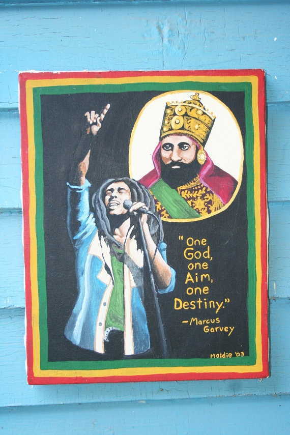 Bob Marley Haile Selassie Marcus Garvey Ethiopia by Ilive2loveJAH, $300.00