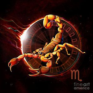 Scorpio Digital Art - Horoscope Signs-scorpio by Bedros Awak