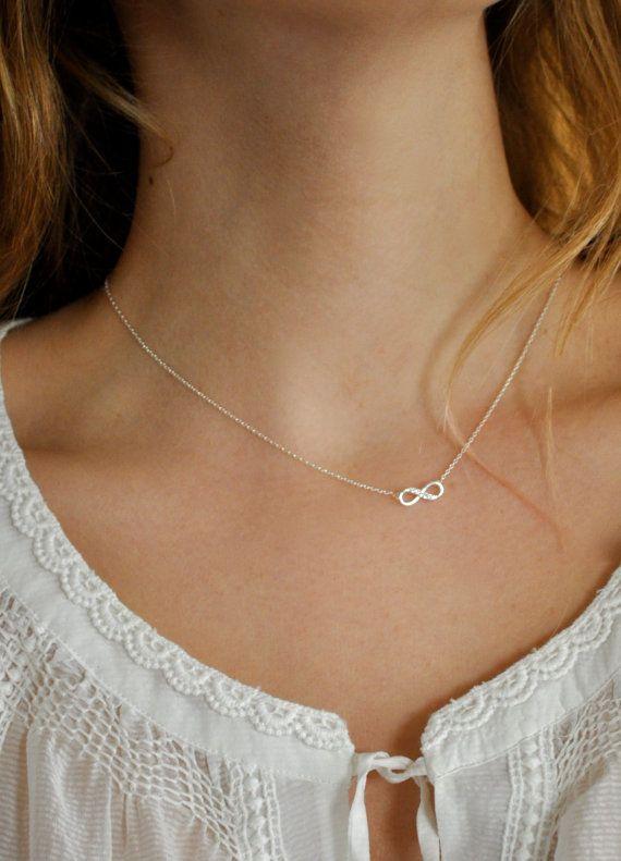 Tiny Diamond Infinity Bow Necklace by maldemer on Etsy, $25.00