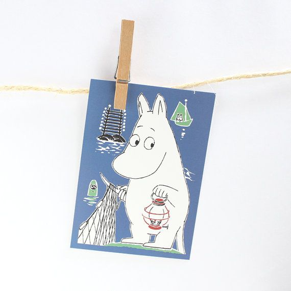 Moomin Postcard from Finland