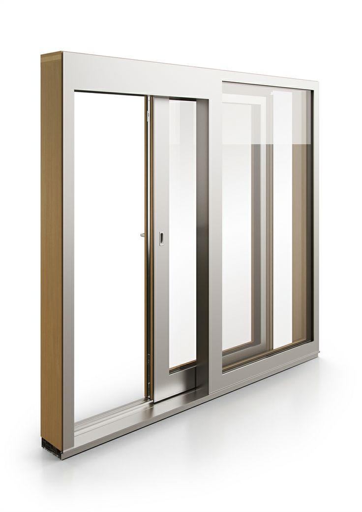 dřevohliníkové posuvné okno KVADRO | wood aluminium sliding window KVADRO