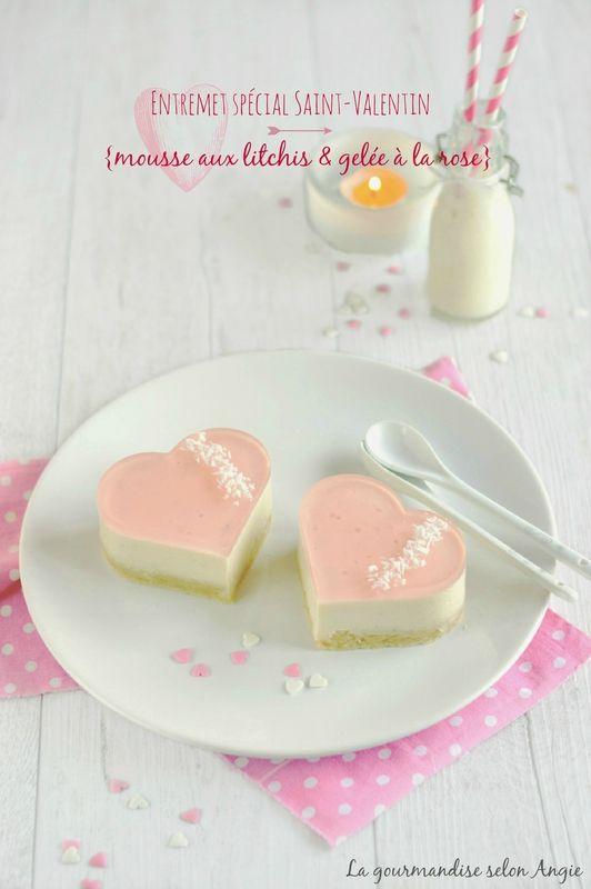 Entremet #Vegan Mousse au Litchi & Gelée à la Rose @ La Gourmandise Selon Angie