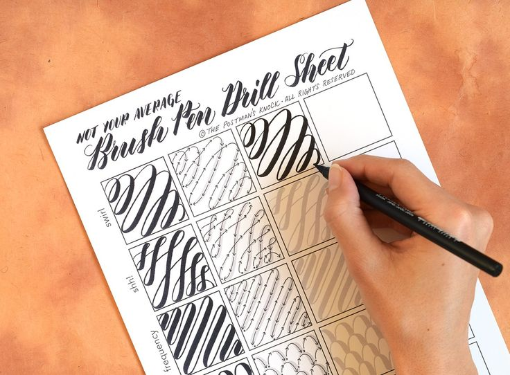 Nicht Ihre durchschnittliche Brush Pen Kalligraphie Bohrer