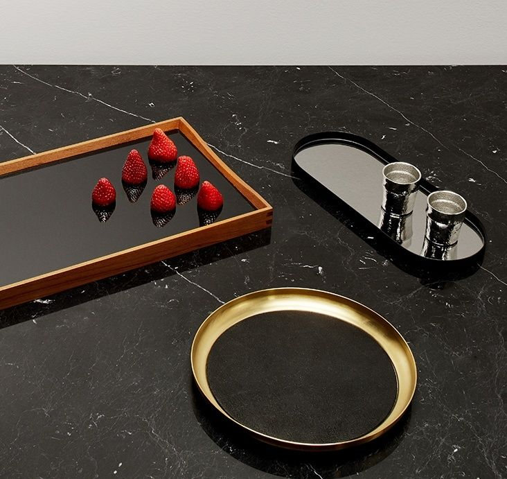 Tray chic. Dispense your drams and draughts with a dashing twist.