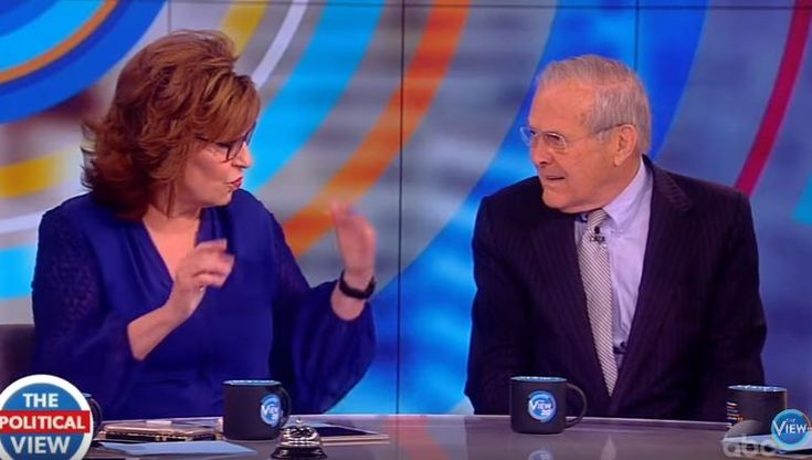 Donald Rumsfeld, former Secretary of Defense, got into a debate with Joy Behar over the 2016 election results, and shut her down quickly.