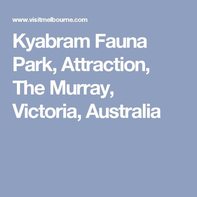Kyabram Fauna Park, Attraction, The Murray, Victoria, Australia