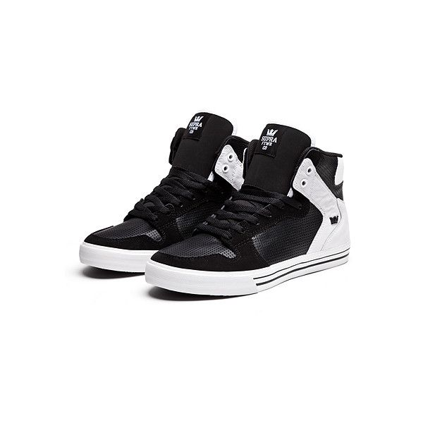 """VAIDER """"WYLAND"""" (325 BRL) ❤ liked on Polyvore featuring shoes, sneakers, supra, men shoes, traction shoes, supra trainers, high top shoes, blue and white sneakers and high top trainers"""