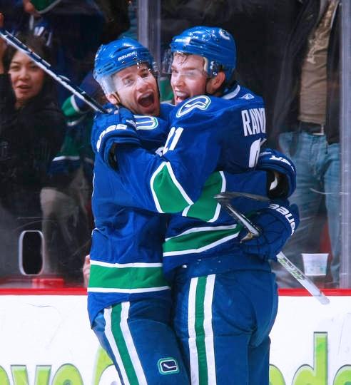 Mason Raymond, Ryan Kesler Vancouver Canucks