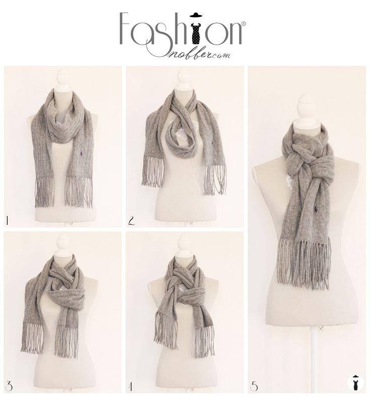#Tutorial #fashion #loop #scarf #FashionSnobber  http://www.fashionsnobber.com/12-modi-indossare-maxi-sciarpa-quadrata/