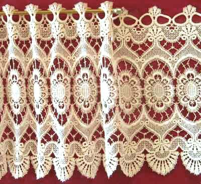 Marquise Is A Formal Patterned Macrame Lace Curtain Used Mostly In Living  Rooms Or Dining Rooms