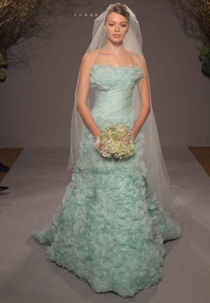 Love this wedding dress  #aqua wedding dress