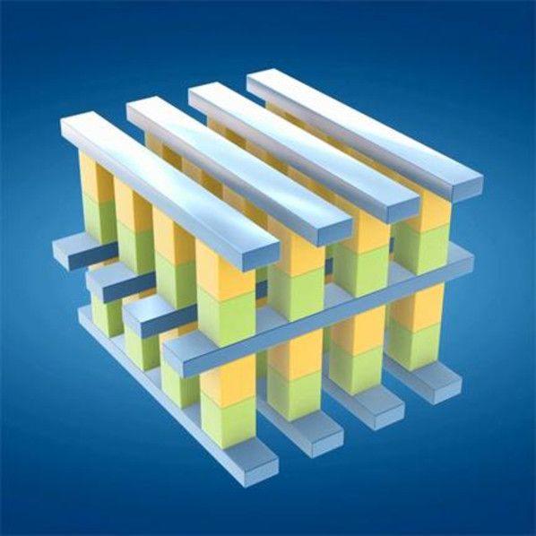 Flotterer SSD-Speicher  Konkreter hinsichtlich neuer Produkte wurde der Chiphersteller bei seiner neuen SSD-Speichertechnologie namens «3D XPoint» (gesprochen: «3D Crosspoint»). Die Technik dahinter basiert auf einer erweiterten dreidimensionalen Struktur aus verschiedenen Säulen mit Speicherzellen. Durch die spezielle Anordnung soll sich die Speichertechnik im Vergleich zu konventionellem NAND Flash wie DRAM-Speicher verhalten und (laut Intel) 1000-mal schneller und 1000-mal langlebiger…
