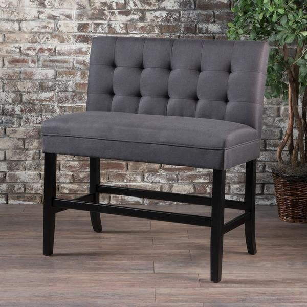 Paddy Tufted Back Fabric 26 Inch Barstool Bench Fabric Bar Stools Upholstery Upholstered Bench Dining Bench