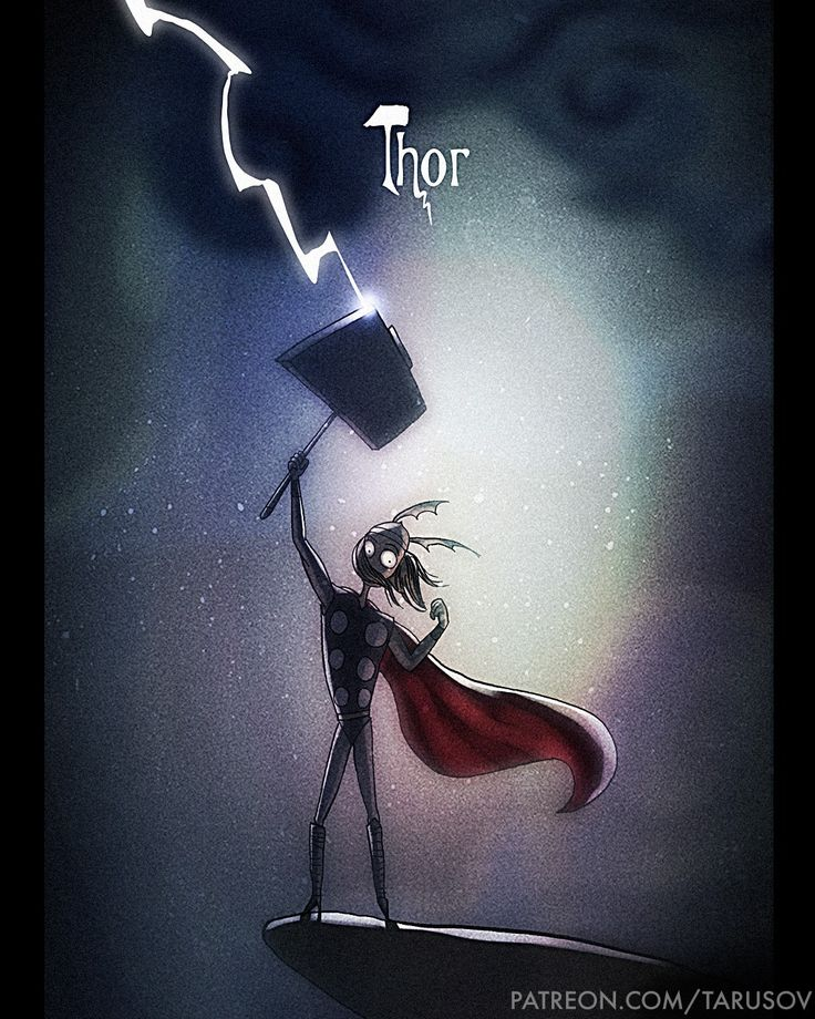 Если бы Тим Бертон иллюстрировал Супергероев - Новые иллюстрации от Андрея Тарусова   Все интересное в искусстве и не только.