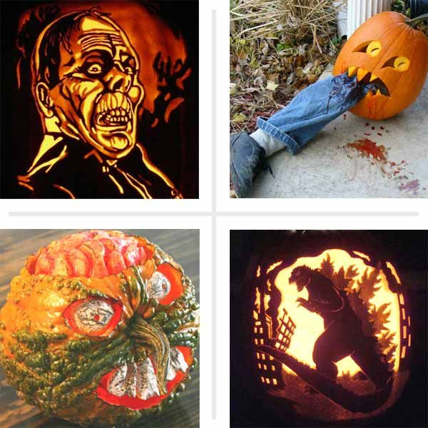 Check out our 40 best pumpkin carvings of monsters and villains, and enter your own for a chance to win! | thisoldhouse.com