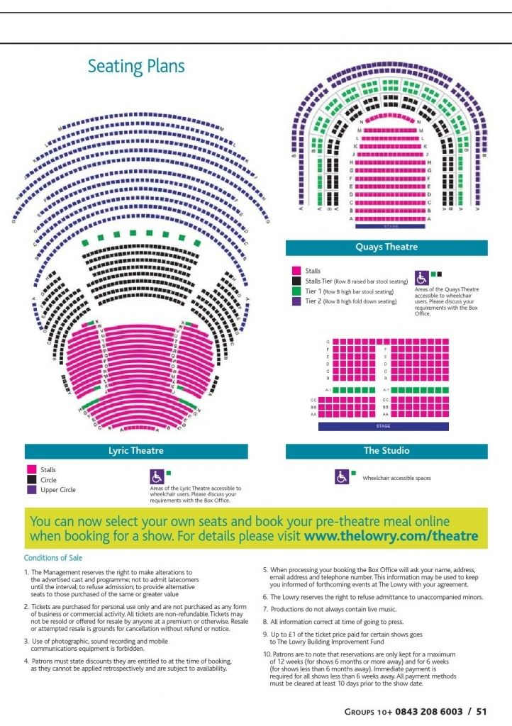 The Incredible Lowry Quays Theatre Seating Plan Seating Plan How To Plan Event Planning Quotes