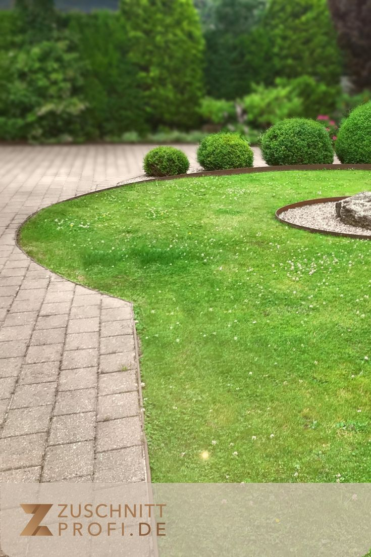 Rasenkanten Aus Stahl Fur Klassische Und Moderne Garten En 2020 Cabane