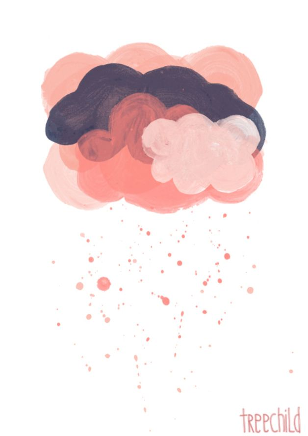 "Digitaldruck - Druck 'rosa Wolken' // print ""pink clouds"" by TreeChild via dawanda.com"