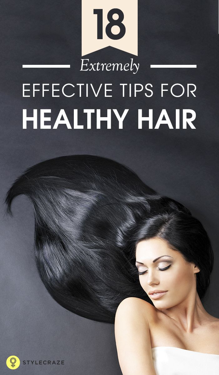 Shiny and bouncy hair look simply mesmerizing. But not all of us are born with such beautiful hair. However, with the help of a proper hair care regimen, you can bring life and luster back to your hair. Here are 18 extremely effective tips for long, healthy and lustrous hair. #HairCare