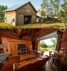 Who needs a man cave when you can have a man barn. Love it