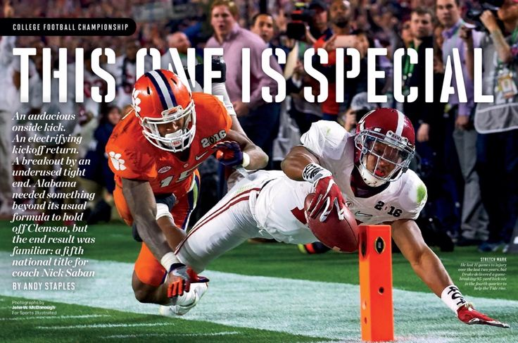 """THIS ONE IS SPECIAL"" Kenyan Drake kickoff return - Alabama vs Clemson: 2016 National College Football Championship - From Sports Illustrated #Alabama #RollTide #Bama #BuiltByBama #RTR #CrimsonTide #RammerJammer"