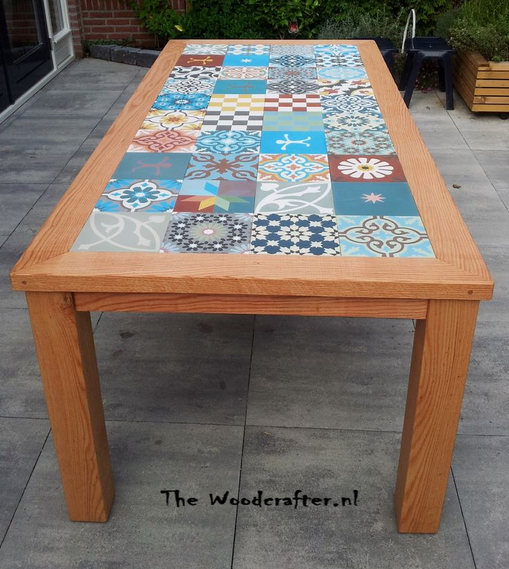 7 best Tile table images on Pinterest | Tile top tables ...