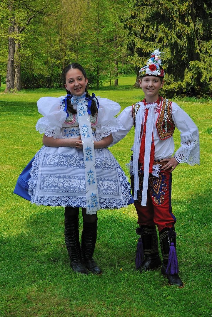 Moravian folk costumes, Czech republic.