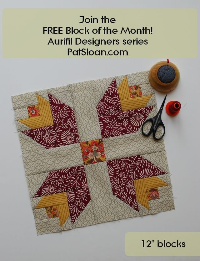 Aurifil BOM Challenge, Meet Maureen & Enter your block!