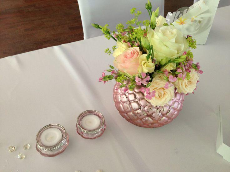 ... Rose / Tischdekoration von Weddstyle  ♡ PINK / ROSA HOCHZEITSDEKO