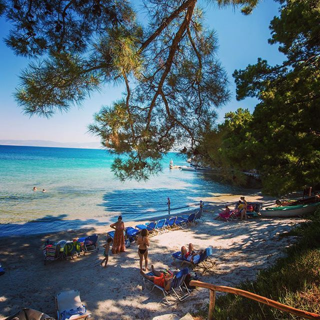 No need for umbrellas in this beautiful small beach. Have you ever been to…