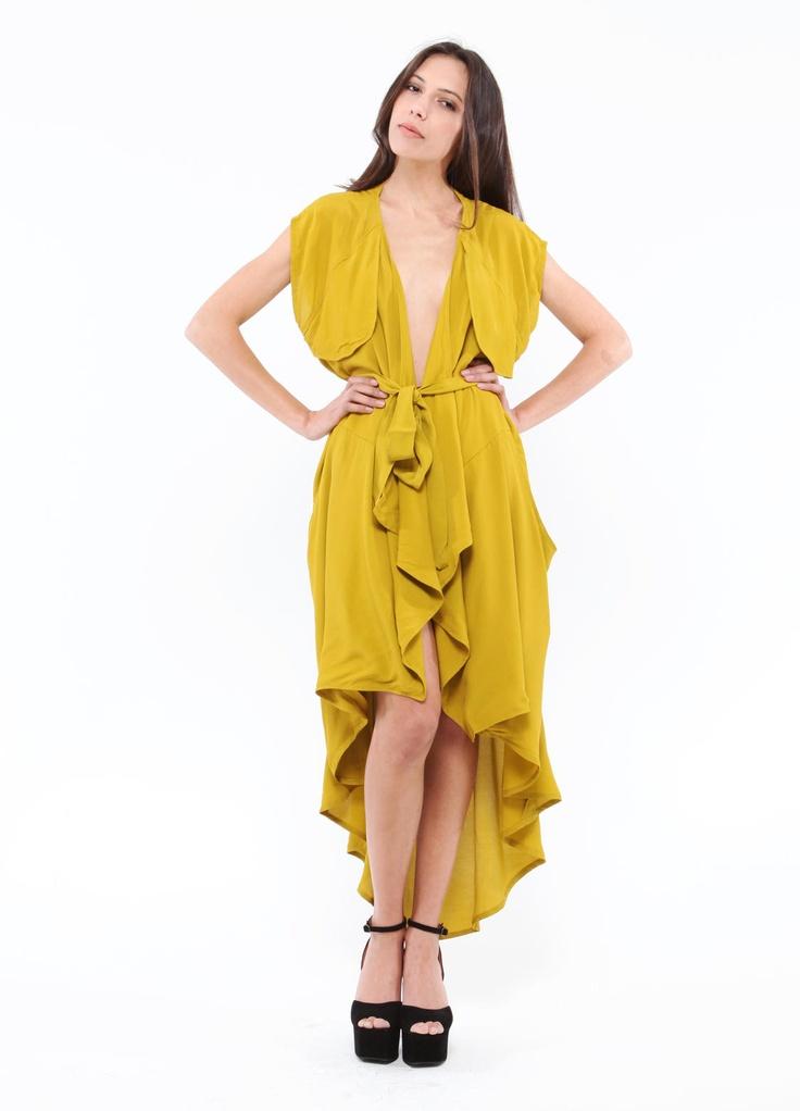 Mustard Drape Dress: Cameo Fortress, Mustard Draping, Woman, Draping Dresses Great, New Dresses, Dresses Skirts, Fortress Draping, Draping Vest, Trench Coats