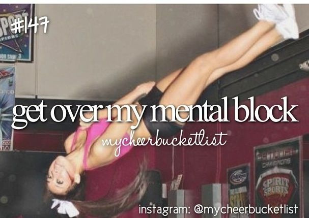 My cheer bucket list...!