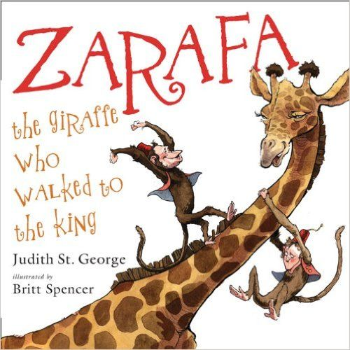 Zarafa is a beautiful and gentle giraffe . . . so wonderful, in fact, that the ruler of Egypt offers her as a gift to the king of France! But how to get her there? Why, she sails up the Nile by felucca, crosses the sea by brigantine, and, yes, walks the last five hundred miles to Paris. People love it. And they love her, meeting and greeting her along the way, cheering her on. Afterward, the grateful French king places Zarafa in his own royal garden, where all of Paris comes to visit and…