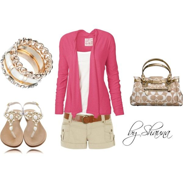 blushing summer, created by shauna-rogers: Coach Pur, Summer Looks, Coach Bags, Fashion Style, Cute Outfits, Summer Outfits, Outfits Ideas, Summer Night, Spring Outfits