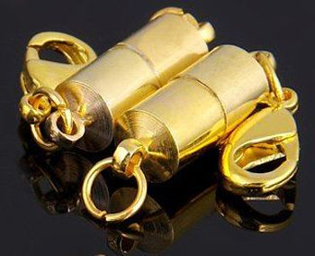 Easy on/off your jewellery - Gold, magnetic clasp, 2 pack