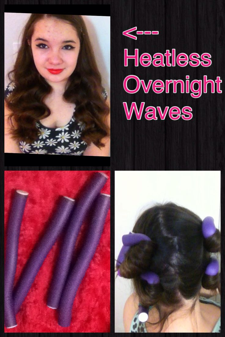 Get loose heatless waves overnight by using only 4 bendy
