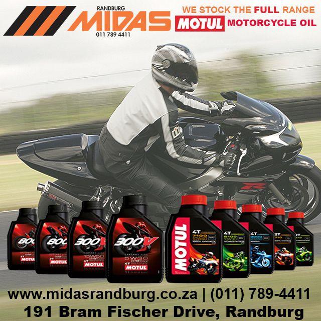 Motul motorcycle oil now available from Randburg Midas #Motorbikes #MidasLiquids http://bit.ly/1P8wa4P