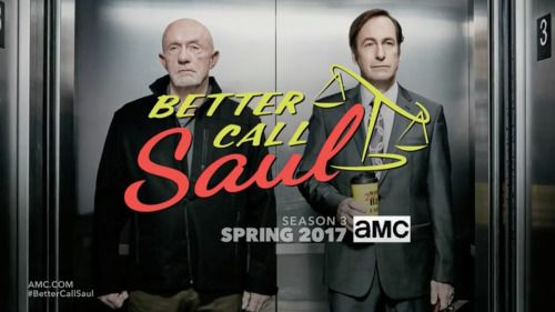 """Some early Better Call Saul S3 teasers are showing up on AMC during the Breaking Bad marathon. They're crap quality, but check out: """"Criminal. Lawyer."""" and """"I'll be representing myself."""" Both feature Jimmy going to jail. Sounds promising. I still..."""