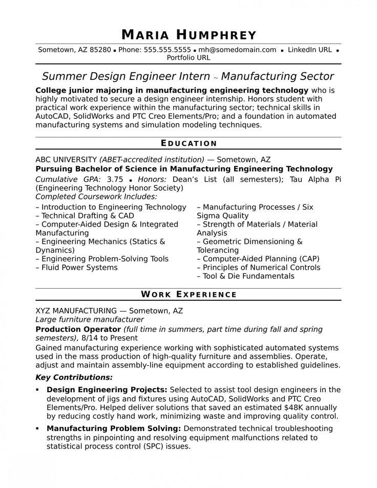 15 undergraduate engineering resume
