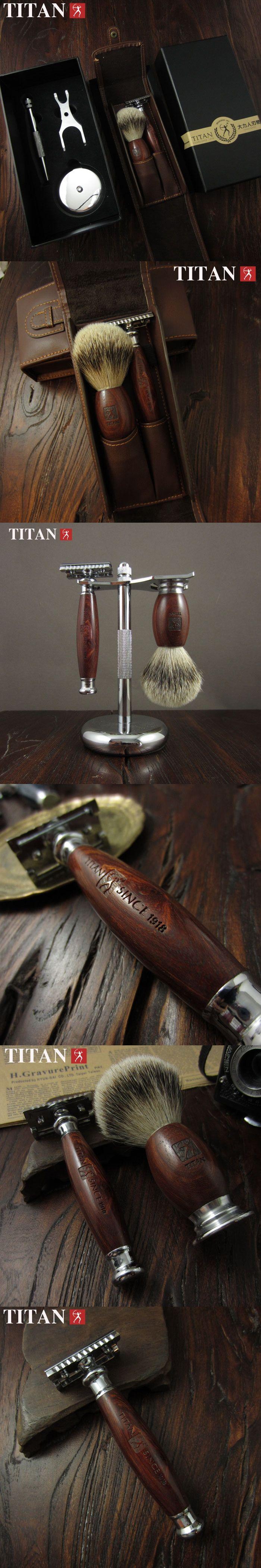 Titan safety razor set ,double edge safety razor set,safety razor stainless steel Classic Fashion Men Manual Shaver