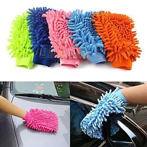 super mitt microfiber car wash wassen reiniging handschoenen auto wasmachine $3,99 (free shipping)