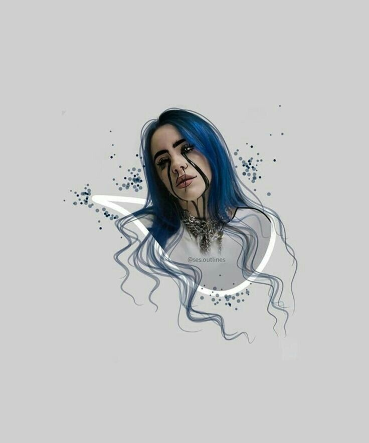Billie Eilish Billie Billie Eilish Drawing People