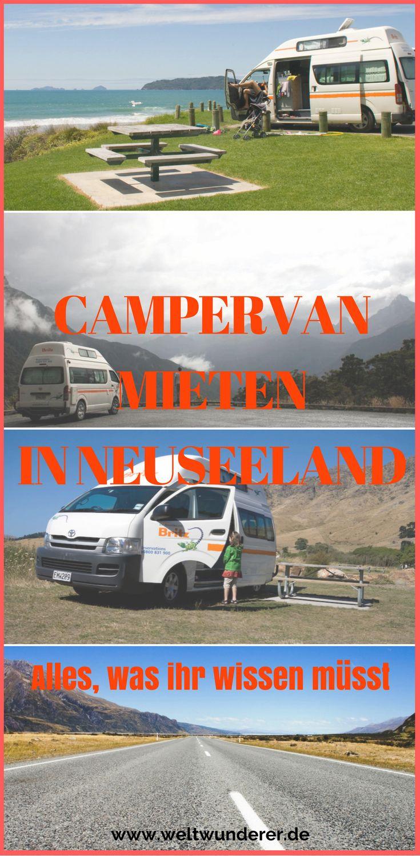 Ihr wollt einen Campervan mieten in Neuseeland? Hier ist alles, was ihr darüber wissen müsst :-)