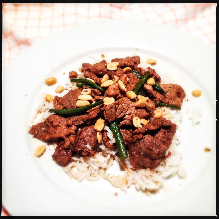 Stir-fried Chilli Pork - Bill Granger. Full of classic Asian flavours, this is a midweek favourite in the making...