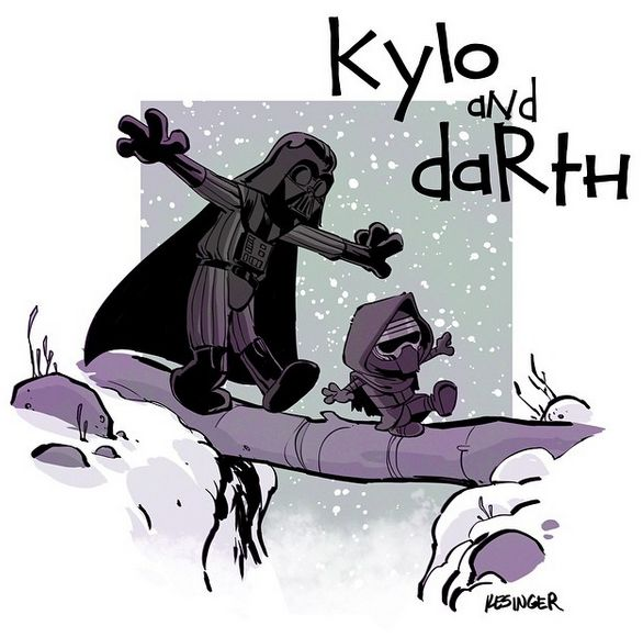 Calvin and Hobbes styled Star Wars comic by briankesinger