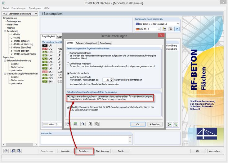 Verwendung von Glättungsbereichen in RF-BETON Flächen   https://www.dlubal.com/de   #baustatik #bim #cad #cae #dlubal #fea #fem #rfem #rstab #statik #statiksoftware #tragwerksplanung